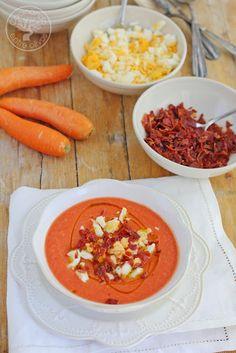 Cocinando entre Olivos: Salmorejo de zanahorias. Receta paso a paso.