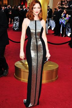 Judy Greer in Monique Lhuillier. I'm obsessed with this dress.