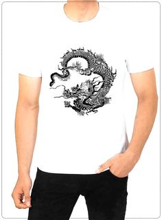 Chinese dragons are legendary creatures in by BANDSTARRSTORE