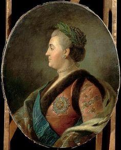 Файл: Профиль портрет Екатерины II по неизвестным после Ротари (18 гр ,, Версаль) .jpg