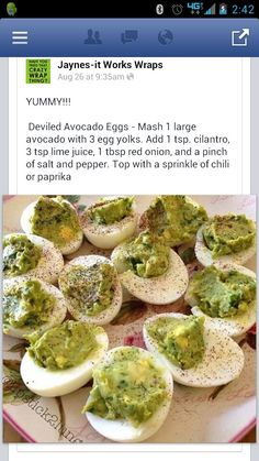Avocodo deviled eggs
