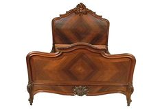 HOME DECOR – FURNITURE – BED – Hand-Carved Louis XV-Style Bed, Full on OneKingsLane.com