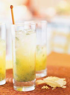 Cocktail avec mister cocktail fruit de la passion
