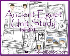 Free Ancient Egypt Unit Study Grade by Royal Baloo 6th Grade Social Studies, Teaching Social Studies, Teaching History, History Activities, History Education, Art Education, Ancient Egypt Lessons, Ancient Egypt Activities, Ancient History