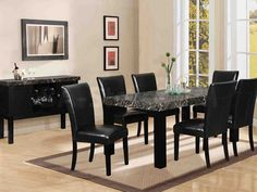 Black Living Room Table Set parts can add a contact of favor and design to any home. Black Living Room Table Set can mean many issues to many individuals… Black Dining Room Table, Black Dining Room Furniture, Dining Table Chairs, Dining Room Design, Dining Set, Modern Furniture, Classic Furniture, Round Dining, Furniture Design