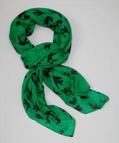 Love this Green Bird Scarf on #zulily! #zulilyfinds