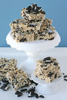 Cookies and Cream Rice Krispies Treats wood-work-designs