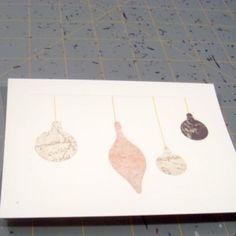 DIY Christmas Ornament Holiday Card - maybe this year?