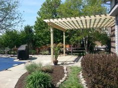 Treated Pergola Pergola, Outdoor Structures, Arbors