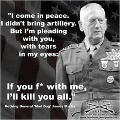I come in peace. I didn't bring artillery. But I'm pleading with you, with tears in my eyes. If you f*ck with me, I'll kill you all.