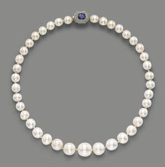 A NATURAL PEARL, SAPPHIRE AND