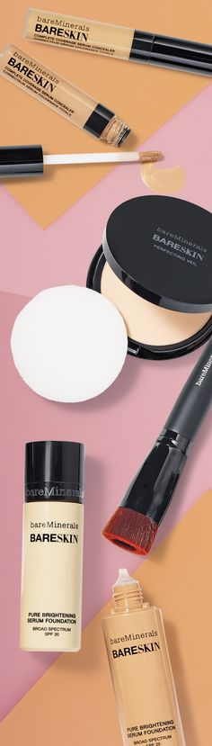 Use BareMinerals Bare Skin brightening foundation and concealer to get the cashmere skin look this fall season.