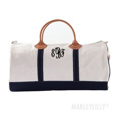 Monogrammed Round Duffel Bag - on sale for $59.99!