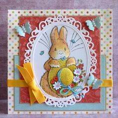 Bunny with Easter Bonnet
