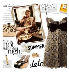 """Smokin' Hot: Summer Date Night"" by lacas ❤ liked on Polyvore featuring Graphic Image, Chanel, Dolce&Gabbana, Azzaro and summerdatenight"