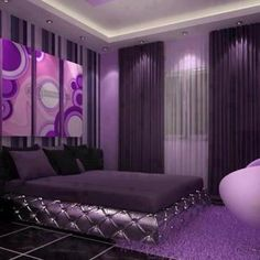 Purple is a very stunning colour. People who love purple may have that personality. In this article, I will show you the ideas for this stunning purple bedroom. Purple Bedroom Design, Purple Bedrooms, Purple Interior, Purple Bedding, Home Interior, Interior Design, Purple Home, All Things Purple, Master Bedrooms