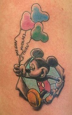 Mickey mouse tattoo my first tattoo 21st oct 2014. Kimberley davitt. X