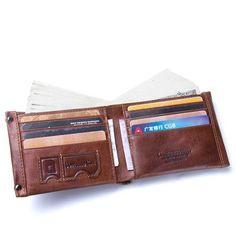 b3cd182ba4f1d US 30.71 - Vintage Genuine Leather 10 Card Slots Wallet For Men Key Bag