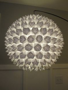 Lampadario con origami