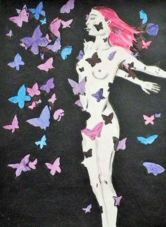 """""""Rebirth"""" Peinture/aquarelle/feutres"""