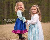 Frozen Elsa Inspired Cotton Everyday Princess Dress- sizes 3m 6m, 12m, 18m, 2, 3, 4, 5, 6, 7, 8,10, 12