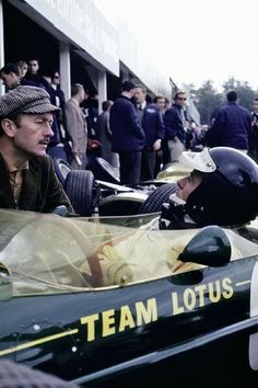 This was the duo to beat and few did.  Lotus Team - Jim Clark and Colin Chapman