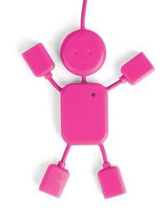$6 USB Hubman Pink by Kikkerland, http://www.amazon.com/dp/B005WKEQW6/ref=cm_sw_r_pi_dp_sOxBrb01V3QTF