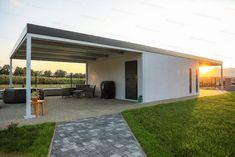 Carport Designs, Pergola, Garage Doors, Construction, Outdoor Structures, Outdoor Decor, House Ideas, Home Decor, Garages