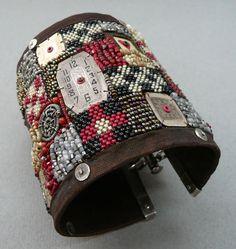 Bracelet | Kirsti Zevenbergen. 'Untitled'. 2007 - ah ha!!! Use Dremel to drill holes in watch faces, etc.