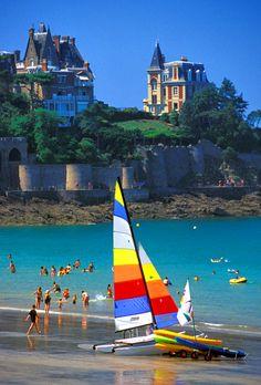 Strand Dinard, Bretagne, Frankrijk