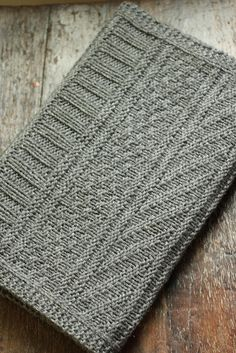 knit guernsey wrap scarf in charcoal gray wool by catparty, via Flickr