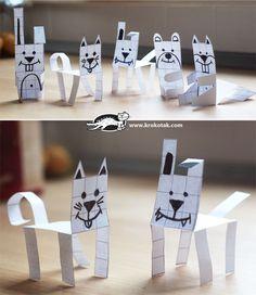 животни в квадратчета