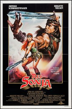 Red Sonja - movie poster - Very Fine+ (8.5)