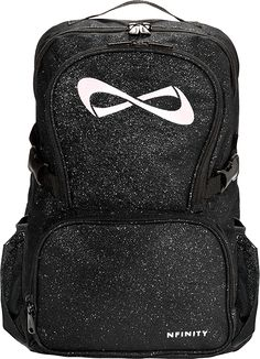 Black sparkle nfinity backpack. Perfection! Now my silver bows can stand out too.
