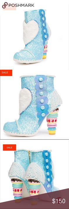 NIB 💝❤️ Irregular Choice Blue Cake Heeled Boots Irregular Choice Blue Sparkle Cupcake Heeled Boots size 40 (9) in irregular Choice New in box All offers are welcome 😀 Irregular Choice Shoes Heeled Boots