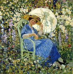 Frederick Frieseke (1874-1939) Life in the Garden, Giverny 1910-1912