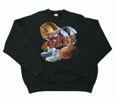 #Vintage 1996 #SanFrancisco49ers Crewneck Sweatshirt Made in USA #Mens Size Large #90s #1990s #sportswear #49ers