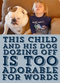 This Child And His Dog Dozing Off Is Too Adorable For Words!!