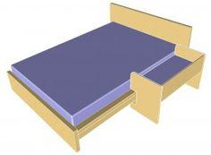 Baby Beistellbett für Malm Bett (Designer-Holz)