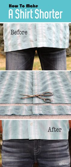 All you need is some basic sewing skills and you can tailor your long shirts to fit perfectly! How-to here: http://www.ehow.com/how_5732110_make-long-shirt-shorter.html?utm_source=pinterest.com&utm_medium=referral&utm_content=freestyle&utm_campaign=fanpage
