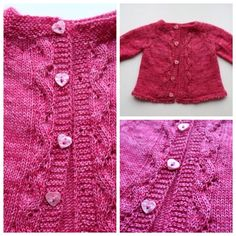 Sunnyside baby cardigan in Riverside Studio yarn