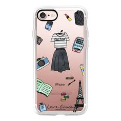 Almost Parisian   Presque Parisienne (New) - iPhone 7 Case, iPhone 7... ($40) ❤ liked on Polyvore featuring accessories, tech accessories, iphone case, iphone cover case, iphone cases, apple iphone cases and iphone hard case