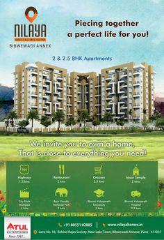 Atul Enterprises Pune Reviews 2 & 2.5 BHK apartments in Nilaya, Bibwewadi Annexe
