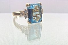 Blue topaz. Lovely. Needs to be white gold. 27 Non-Diamond Engagement Rings that Sparkle Just as Bright | OneWed
