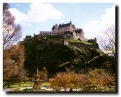 Edinburg Castle, Edinburgh Scotland - as seen from Princes St - this was my grandmother's view growing up.