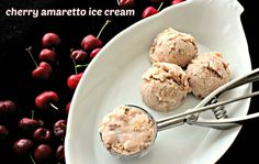 Cherry amaretto ice cream