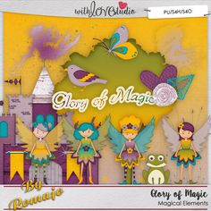 Glory of Magic, Magical Elements from Designs by Romajo - part of the digital scrapbooking Monthly Lovely Colors collab from With Love Studio.