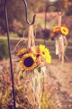 A Garden Party | South Jersey Wedding Florst: Nicole & Josh at Pratt Gardens, mason jars with sunflowers, roses, bittersweet vine  #agardenpartyflorist #MLEpictures #PrattGardens