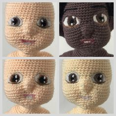 Then I have some brown eyes babies  #amigurumi #crochet #babies