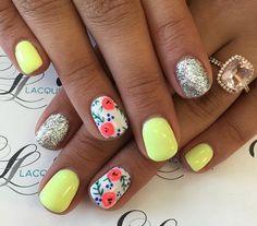 Vibrant, Summer Nails